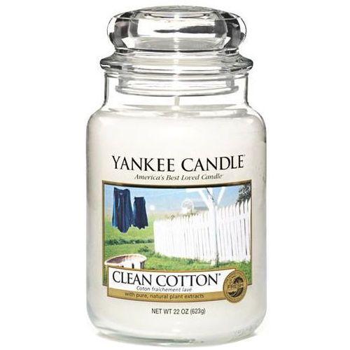 Świeca YANKEE słoik duży Clean Cotton® - YSDCC1 (5038580000108)