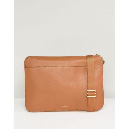 Knomo mason powered leather clutch bag - tan