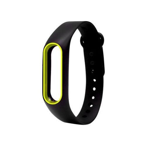 Opaska zamienna pasek guma do Xiaomi Mi Band 2 Czarno-żółty - Czarny ||Żółty