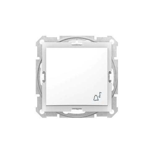 """Sedna przycisk """"dzwonek"""" hermetyczny podtynkowy pojedynczy bez ramki ip44 biały sdn0800321 marki Schneider"""