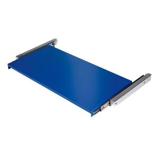 Wysuwana półka do szafy supply, 875x455 mm, niebieski marki Aj produkty