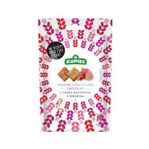Ciasteczka kruche zbożowe malinowe z żurawiną 50 g Kupiec z kategorii Ciastka, herbatniki, biszkopty