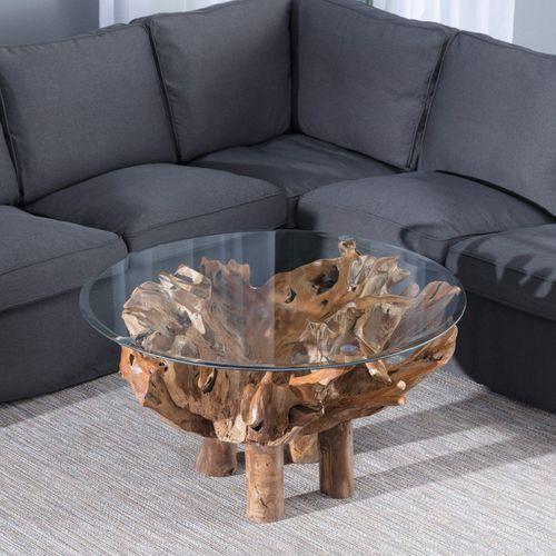 Dekoria  stolik kawowy saparua wys. 55cm, 100x100x55cm