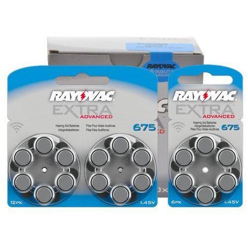 66 x baterie do aparatów słuchowych Rayovac Extra Advanced 675 MF
