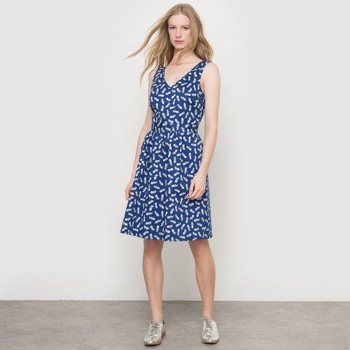 R édition Krótka sukienka z nadrukiem