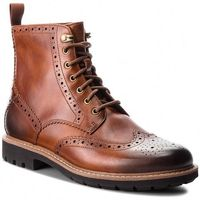 Kozaki CLARKS - Batcombe Lord 261271907 Dark Tan Leather, kolor brązowy
