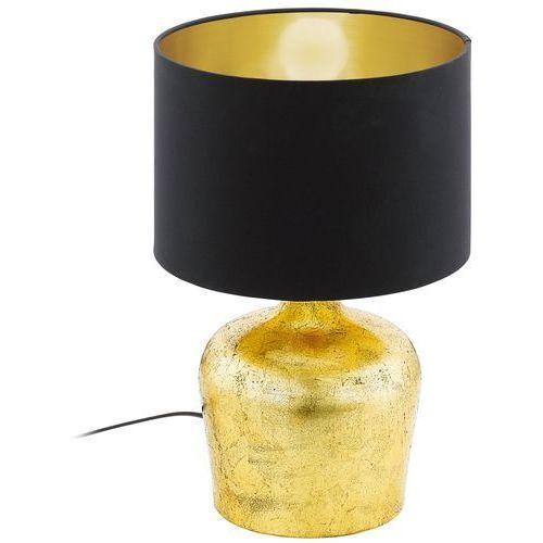 Lampa stołowa manalba 38cm złota z czarnym kloszem, 95386 marki Eglo
