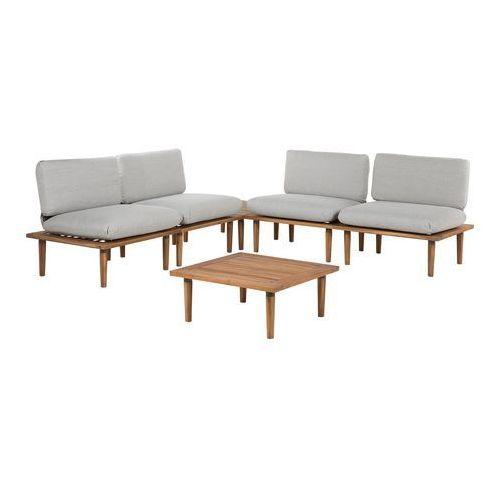 Beliani Zestaw mebli ogrodowych 4 częściowy drewno akacjowe jasnoszary frascati (4260624111599)