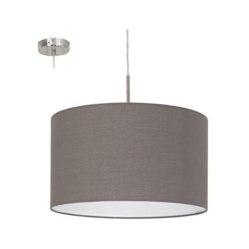 Lampa wisząca Eglo Pasteri 31574 z abażurem 1x60W E27 fi38 antracyt/brąz + żarówka LED za 1 zł GRATIS!