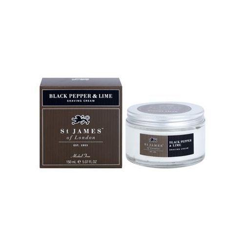 black pepper & persian lime krem do golenia dla mężczyzn 150 ml + do każdego zamówienia upominek. marki St. james of london