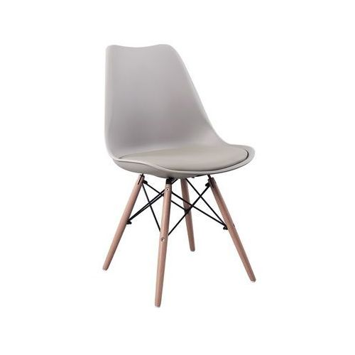 Krzesło Eteo DSW grey z poduszką, kolor szary
