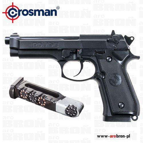 Crosman Pistolet wiatrówka  pdm9b blow back 4,5mm - śrut bb i diabolo, co2