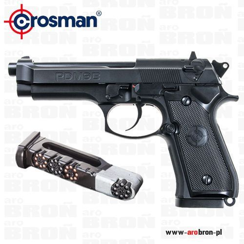 Crosman Pistolet wiatrówka  pdm9b blow back 4,5mm - śrut bb i diabolo, co2