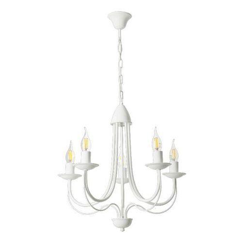 Lampex Żyrandol candle 5 biały