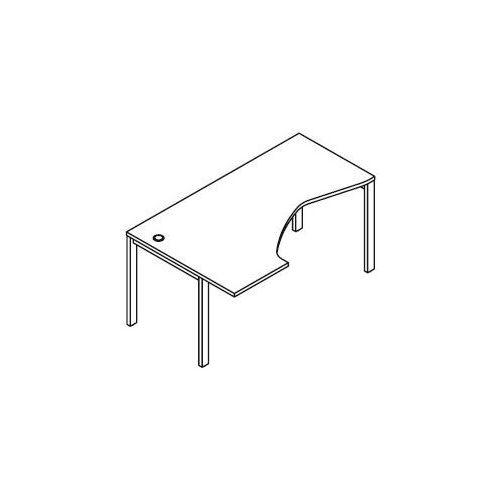 Biurko kątowe BSA48 wymiary: 160x100(70)x75,8 cm