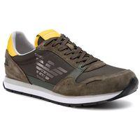 Sneakersy EMPORIO ARMANI - X4X215 XL198 D288 Ivy/Mandelion/Gunmet, kolor zielony