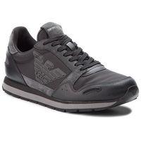 Emporio armani Sneakersy - x4x215 xl454 b936 black/shark/black