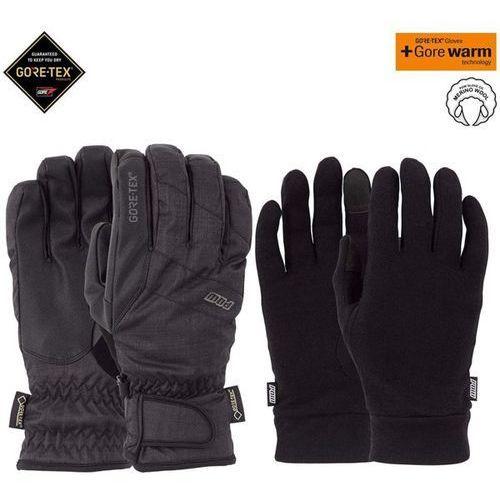 Pow - warner gtx short glove + warm black (bk) rozmiar: l