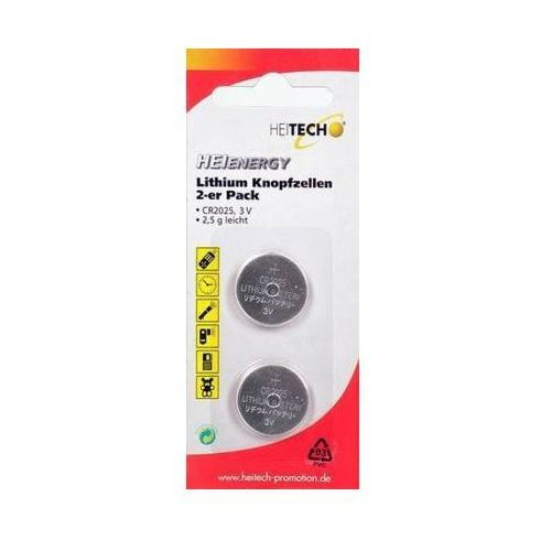 Bateria HEITECH Heienergy Lithium Button Cells 2 pc. pac. CR2025