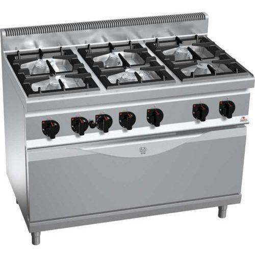 Kuchnia gazowa 6-palnikowa z piekarnikiem gazowym