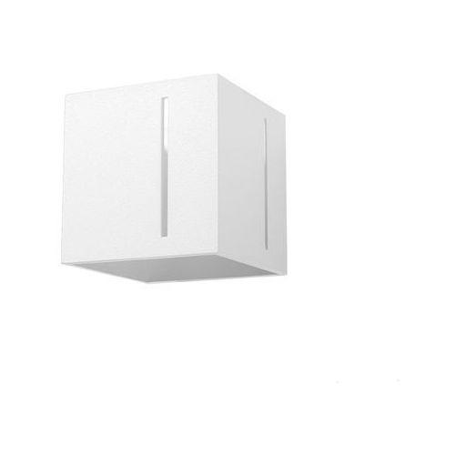 Sol Kinkiet lampa ścienna sl.395 metalowa oprawa kwadratowa kostka cube biała (5902622428949)