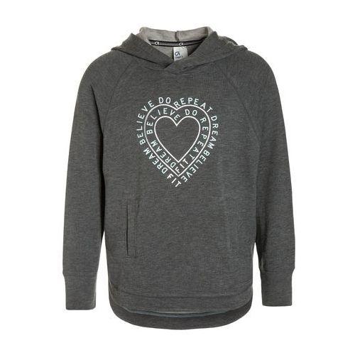 GAP FIT Bluza z kapturem heather grey, kolor szary