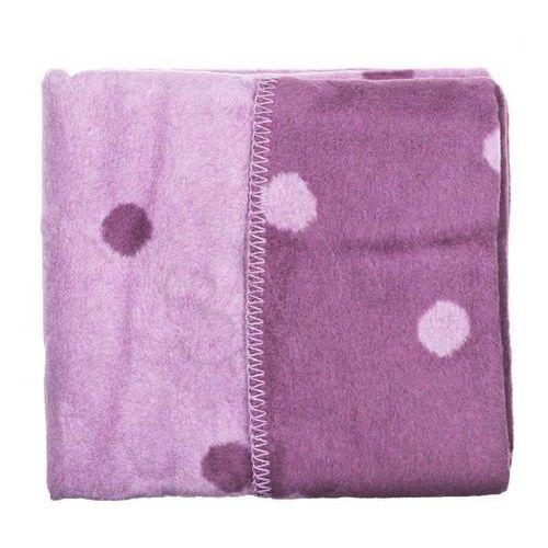Womar Koc 100% bawełna 75X100 Grochy fiolet/amarant- wysyłamy do 18:30 (5902745515052)