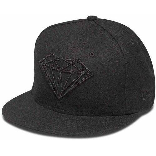 czapka z daszkiem DIAMOND - Brilliant Fitted Black Blk (BLK) rozmiar: 7 3/8, kolor czarny