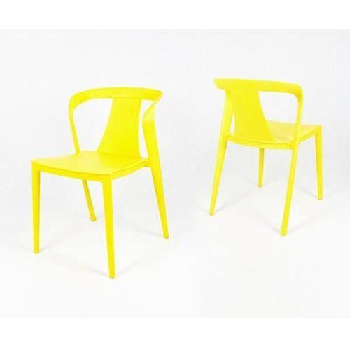 Sk design kr052 żółte krzesło polipropylenowe - żółty