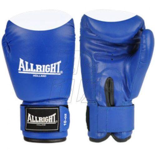 Allright Rękawice bokserskie  pvc niebiesko-białe, kategoria: rękawice do walki