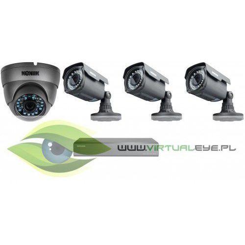 Zestaw do Monitoringu AHD, 1x kamera Kenik KG-512SFPA, 3x kamera Kenik KG-V40SFP-A, rejestrator Samsung SRD-443P 500GB, skrętka + 4 konwertery, kup u jednego z partnerów
