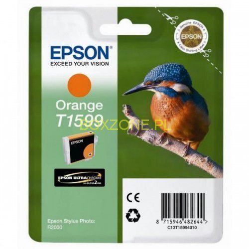 Epson oryginalny ink c13t15994010, orange, 17ml, epson stylus photo r2000
