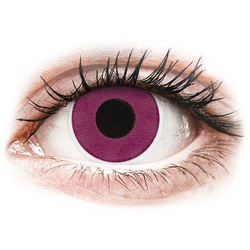OKAZJA - Maxvue vision Soczewki kolorowe różowe purple crazy lens 2 szt. (9555644810887)