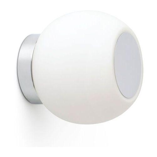 Kinkiet LED Moy w kolorze chromu szklany klosz
