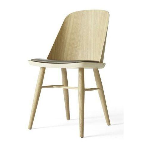 - krzesło synnes ze skórzanym siedziskiem - dąb naturalny marki Menu
