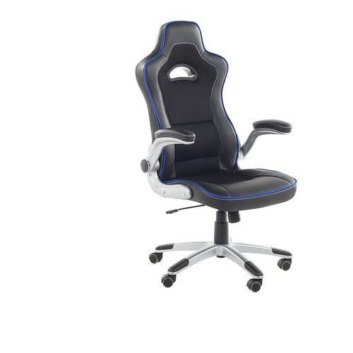 Krzesło biurowe czarno-niebieskie regulowana wysokość master marki Beliani