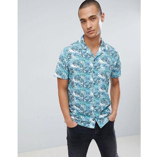 Burton Menswear Regular Fit Shirt With Leaf Print In Green - Green, w 6 rozmiarach