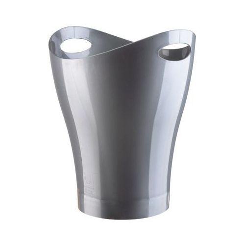Umbra - Kosz na śmieci - Garbino Silver - srebrny