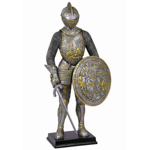 Srebrny rycerz w grawerowanej zbroi (wu72053aa) marki Veronese