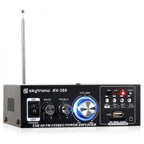 Skytronic av-360 wzmacniacz hifi-stereo usb sd mp3 aux fm (8715693258028)