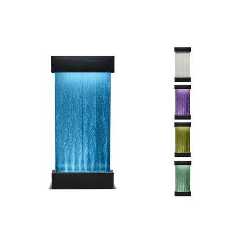 Vente-unique.pl Wolnostojąca bąbelkowa ściana wodna cecily - diody led zmieniające kolory - wys. 122 cm