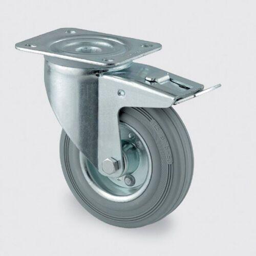 Koła przemysłowe z maksymalnym obciążeniem 70-205 kg, szara guma (4031582305081)