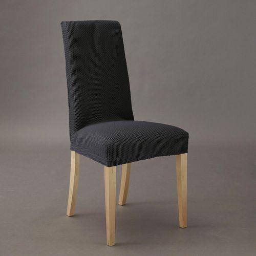 Pokrowiec na krzesło z tkaniny imitującej zamsz, rozciągliwy, marki La redoute interieurs
