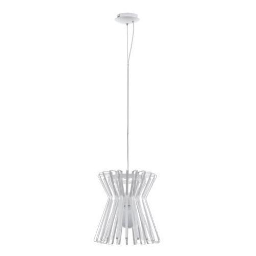 Lampa wisząca locubin 97949 sufitowa 1x40w e27 biała marki Eglo