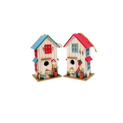 Domek dla ptaków, kolorowy karmnik ozdobny