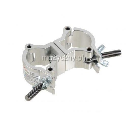 Duratruss Jr Swivel Clamp obejma - hak aluminiowy - podwójna obejma na rurę fi 35mm