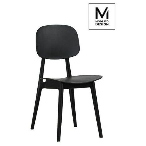 MODESTO krzesło ANDY czarne - polipropylen - Czarny, kolor czarny