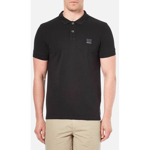 BOSS Orange Men's Pascha Slim Block Branded Polo Shirt - Black - M (4037555347881)