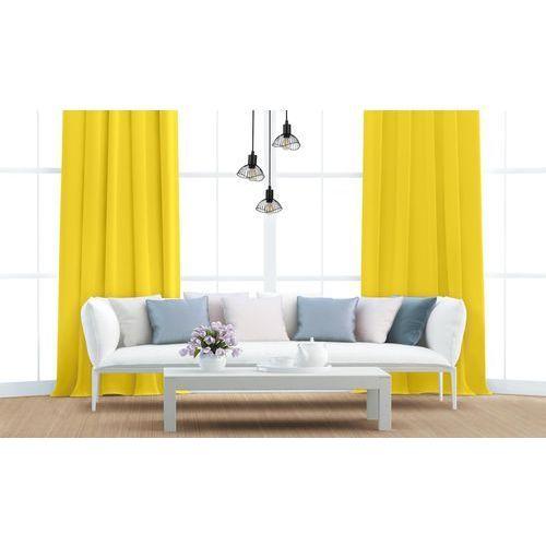 Zasłona aura żółta 140 x 250 cm na przelotkach marki Action