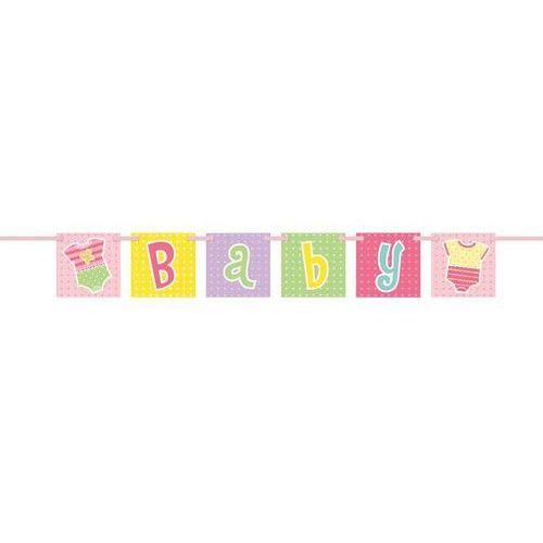 Unique Baner baby shower różowy - 1 szt. (0011179617326)